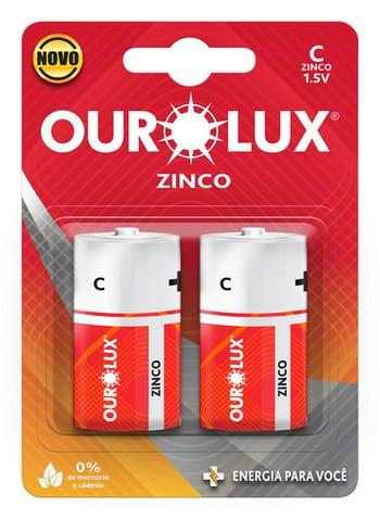 Pilha Comum C - Ourolux - 27030 - Unitário