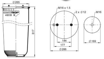 Mola Cilíndrica - Contitech - 67255 - Unitário
