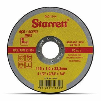 Disco de Corte - Starrett - DAC115-14 - Unitário