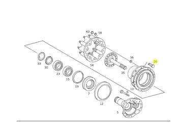 Pino de Fixação da Roda - Original Mercedes-Benz - A0004012471 - Unitário