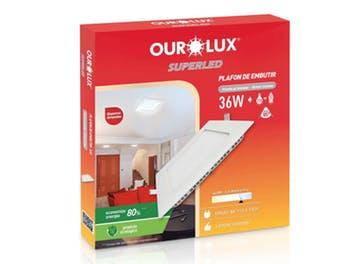 Lâmpada Plafon LED Caixa Embutir 18W Bivolt 6400K - Ourolux - 03207 - Unitário