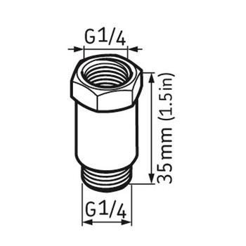 Extensão 35 mm - SKF - LAPE 35 - Unitário
