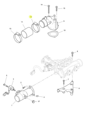 Abraçadeira de Fixação da Mangueira do Radiador e do Turbo - PERKINS - 2481D076 - Unitário