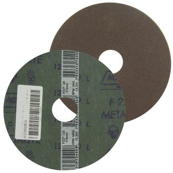 Disco de fibra metalite F224 grão 120 115x22mm - Norton - 05539503016 - Unitário