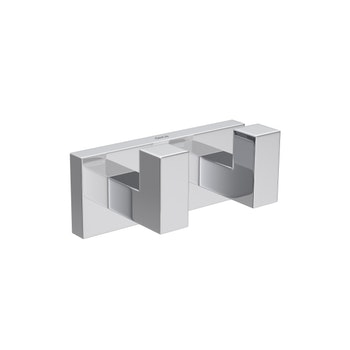 Cabide Duplo Quadratta Cromado - Deca - 2062.C83 - Unitário