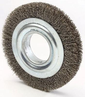 Escova Circular 150x13mm Fio 0,20mm 8000Rpm - Abrasfer - 7000-80 - Unitário