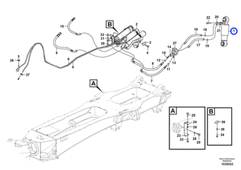 Cilindro Hidráulico - Volvo CE - 17202134 - Unitário