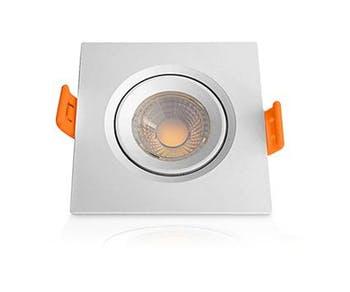 Lâmpada Superled Spot Quadrado 5W Bivolt 3000K - Ourolux - 05603 - Unitário
