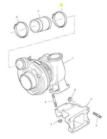 Abraçadeira de Fixação da Mangueira do Radiador e do Turbo - PERKINS - 2481D075 - Unitário