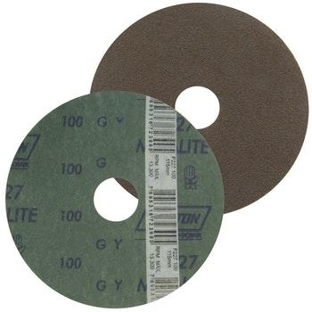 Disco de fibra metalite F224 grão 100 115x22mm - Norton - 05539503013 - Unitário
