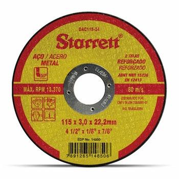 Disco de Corte - Starrett - DAC115-34 - Unitário