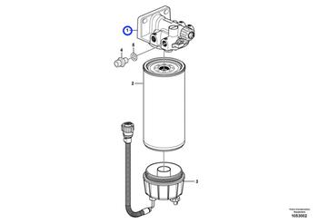 Carcaça do Filtro Separador de Água - Volvo CE - 11110702 - Unitário