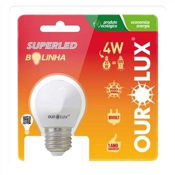 Lâmpada Led Bolinha 4W Bivolt E-27 G45 2700K Ourolux - Ourolux - 1078308 - Unitário