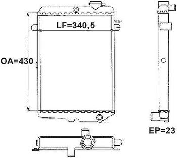 Radiador de Resfriamento - Valeo - TA003001R - Unitário