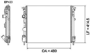 Radiador de Resfriamento - Valeo - 732621R - Unitário
