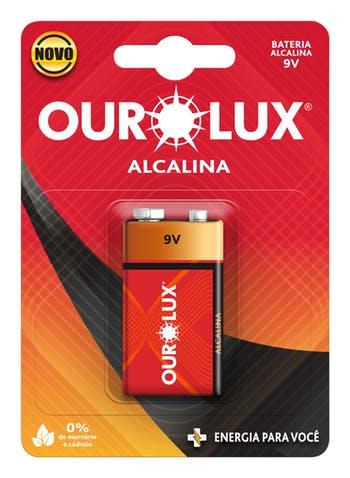 Pilha Alcalina 9 V - Ourolux - 27250 - Unitário