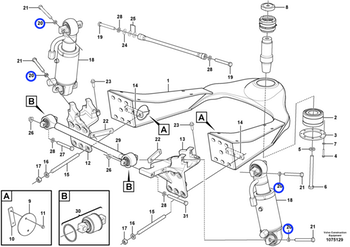 Arruela Espaçadora da Suspensão do Eixo Dianteiro - Volvo CE - 15148887 - Unitário