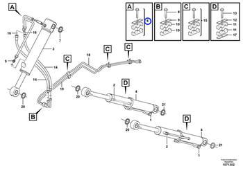 Abraçadeira do Sistema Hidráulico - Volvo CE - 11881092 - Unitário