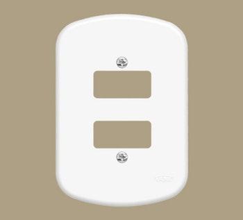 """Placa 4"""" x 2"""" F2D Blanc - FAME - 0786 - Unitário"""