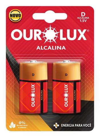 Pilha Alcalina D 1,5 V - Ourolux - 27245 - Unitário