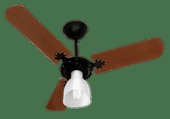 Ventilador de Teto New Delta Light Preto com 3 Pás em Mogno 127V - Venti-Delta - 38-3119 - Unitário