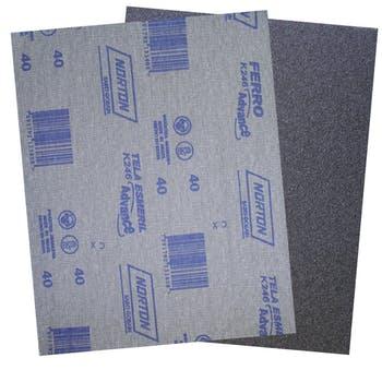 Folha de lixa ferro K246 grão 40 - Norton - 05539503244 - Unitário