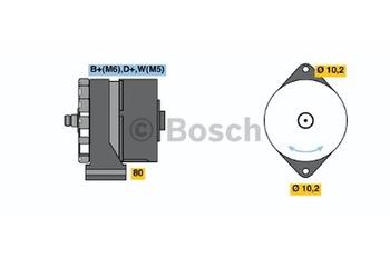 ALTERNADOR K1 (R) 28V 3/45 A - Bosch - 9120080144 - Unitário
