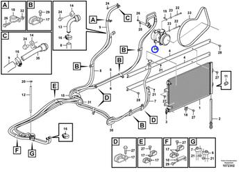 Compressor do Ar Condicionado REMAN - Volvo CE - 9014659238 - Unitário