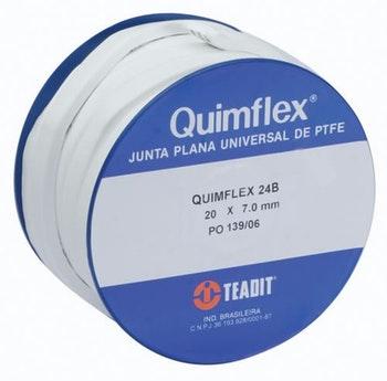Junta Quimflex PTFE 25x10,00mm 10m 24b - Teadit - QUIMFLEX 24B-10 - Unitário