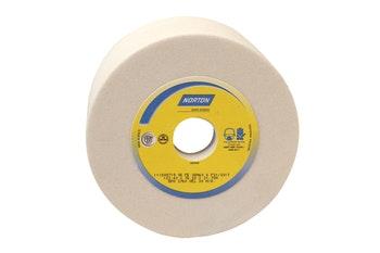 Rebolo copo reto branco FE 38A 60 K - 152,4X76,0X31,75 - Norton - 66253363589 - Unitário
