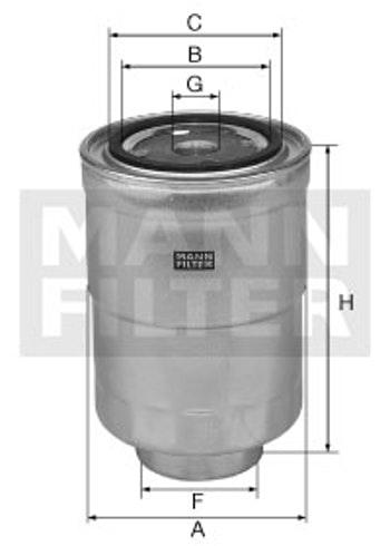 Filtro Blindado do Combustível - Mann-Filter - WK940/11x - Unitário