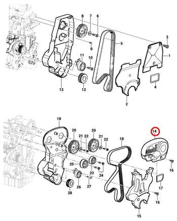 Protetor da Correia - Original Chevrolet - 93388725 - Unitário