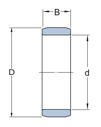 Rolamento de rolos cilíndricos - SKF - NNF 5004 ADB-2LSV - Unitário