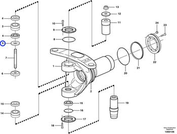 Anel Traseiro da Articulação do Chassi - Volvo CE - 11060840 - Unitário