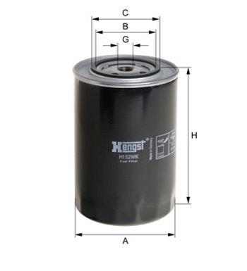 Filtro de Combustível - Hengst - H152WK - Unitário