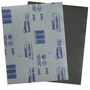 Folha de lixa ferro K246 grão 240 - Norton - 05539503263 - Unitário