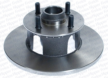 Disco de Freio Sólido com Cubo - Hipper Freios - HF 22 - Par
