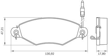 Pastilha de Freio - BB 412 - Bosch - 0986BB0101 - Jogo