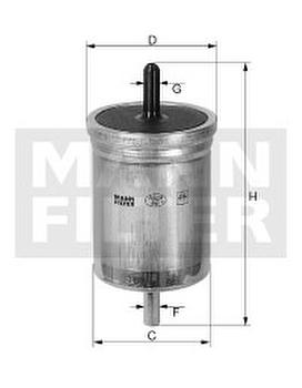 Filtro Blindado do Combustível - Purolator - F1068 - Unitário