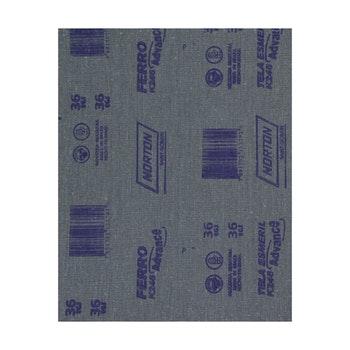 Folha de lixa ferro K246 grão 36 - Norton - 66261199783 - Unitário