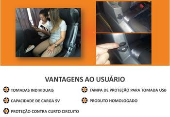Instalação de Tomadas USB para Micro-Ônibus 46 Lugares - Marcopolo Serviços - SERV0029 - Unitário