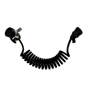 Chicote Elétrico Espiral 5.5M C/ Tomada Macho De 7 Polos E Tomada Macho De 15 Polos-Tensão Até 1000V - DNI - DNI 8365 - Unitário