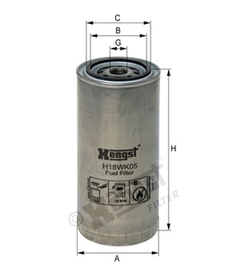 Filtro de Combustível - Hengst - H18WK05 - Unitário
