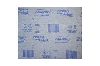 Folha de Lixa Ferro K246 grão 180 - Norton - 66261199787 - Unitário