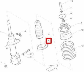 Calço da Mola - Original Fiat - 51728105 - Unitário