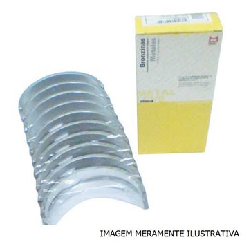 Bronzina do Mancal - Metal Leve - SBC374J 0,50 - Unitário