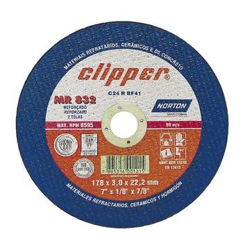 Disco de corte Clipper MR832 - 180x3,0x22,23mm - Norton - 66252927067 - Unitário