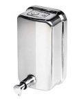 Saboneteira e Dispenser para Álcool em Gel - Capacidade de 500ml - Inox ou cromado