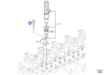 Parafuso Flangeado - Volvo CE - 8192804 - Unitário