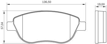Pastilha de Freio - BB 346 - Bosch - 0986BB0300 - Par